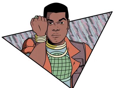 John Boyega as Kwame from Captain Planet adobe draw 90s cartoons mashup illustration captain planet kwame john boyega
