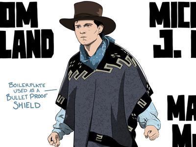 Tom Holland / Marty McFly BTTF3 adobe draw mashup illustration mashup illustration michael j fox tom holland marty mcfly back to the future