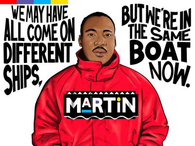 MLK / Marty Mar adobe fresco procreate illustration lettering mlk quotes martin tv show mlk