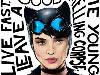 Zoe Kravitz / Catwoman w/ quote