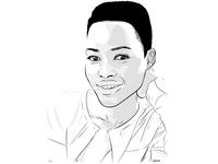 Lupita Nyong'o Black And White