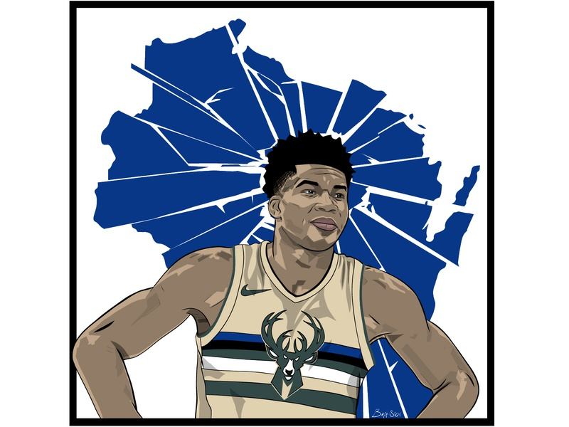 Giannis Antetokounmpo By Brit Sigh On Dribbble