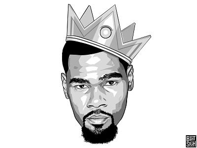 Kevin Durant kd sports design celebrity art adobe fan art apple pencil graphic design adobe draw digital art illustration espn nike basketball nba golden state warriors kevin durant
