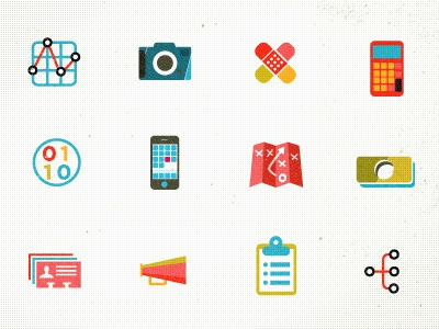 Icons (representing departments for job listings)