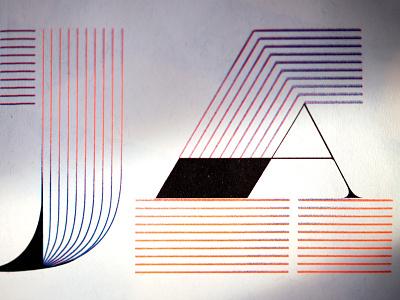 Riso lettering challenge