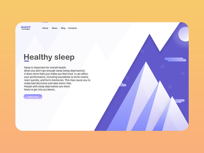 "Web page about ""Healthy sleep"""