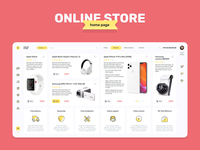 Online store - Home page