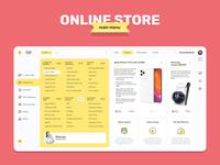 Online store - Main menu