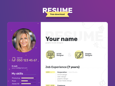 Resume - Free download (PSD)