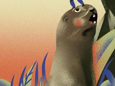 Marmot marmot book art illustrator digitalart painting photoshop design character concept illustration