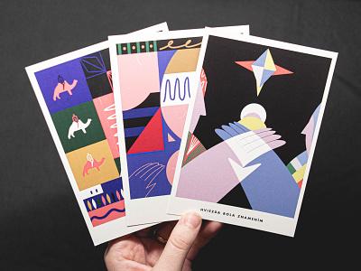 Christmas postards illustrator drawing art painting digitalart concept design illustration