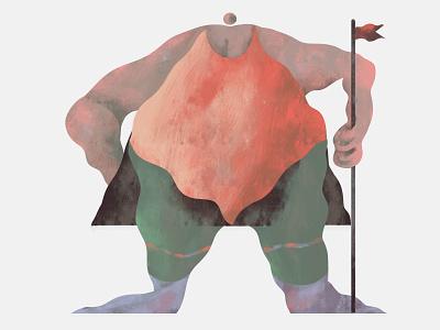 flag bearer art painting illustrator digitalart old photoshop design concept character illustration