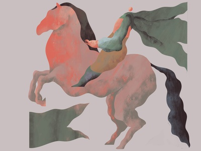 Horse rider drawing art rider horse digitalart painting photoshop design character concept illustration