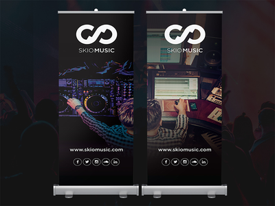 SKIO Music - Event Banners ai indesign event banner tech startup producers music edm print