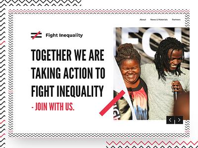 Fight Inequality charity digital ux ui website