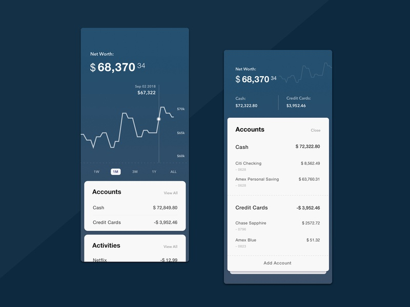 Personal Finance info graphic financial app app design ux ui finance