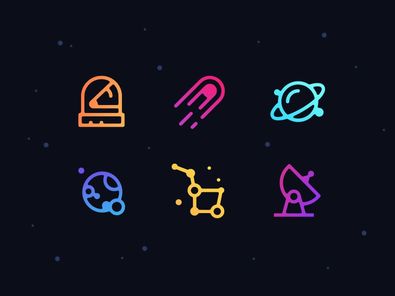 Free Space Icons Set