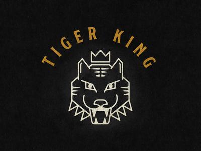 Tiger King illustrator illustration vector branding brand graphic design logo design logomark logo tiger logo tiger tiger king