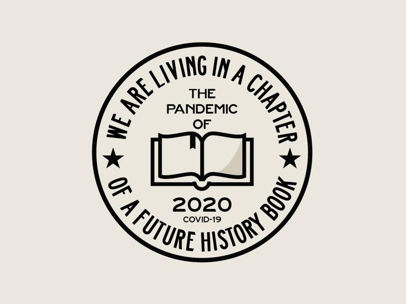 The Pandemic of 2020 badge badgelogo covid19 pandemic illustrator design logos logo branding logo design graphic design