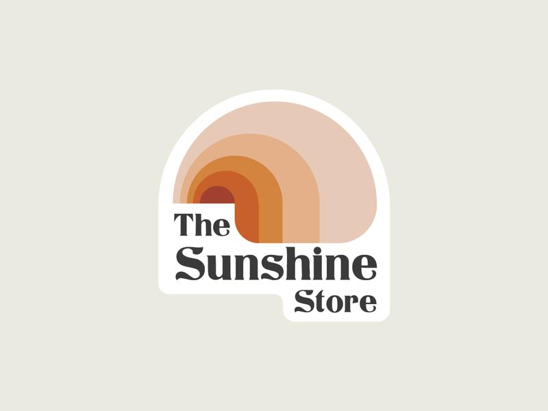 The Sunshine Store Logo groovy vector art rainbows rainbow sunshine logo sunshine logos logo branding logo design graphic design