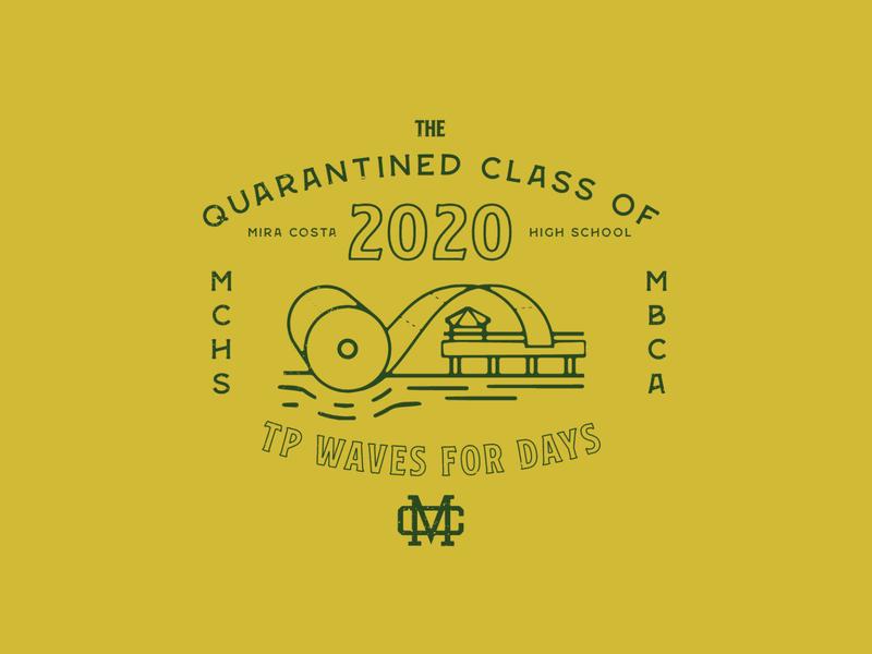 The Quarantined Class tp badge logo badge highschool banners school graphics logo branding logo design graphic design