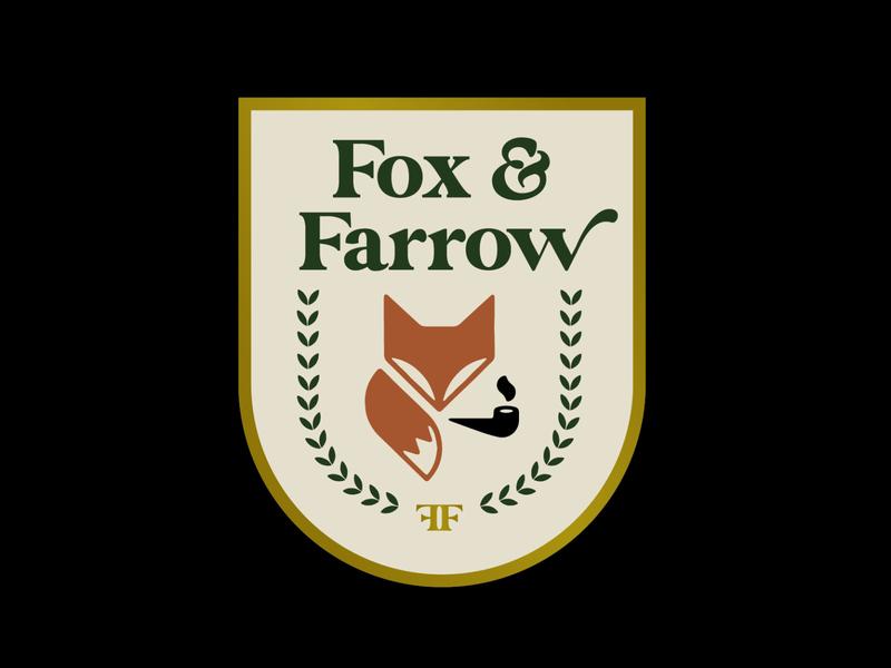Fox & Farrow rebrand brand pubs foxs restaurant branding branding restaurant logo fox logo fox pub logos restaurant logos illustrator logos logo logo design graphic design