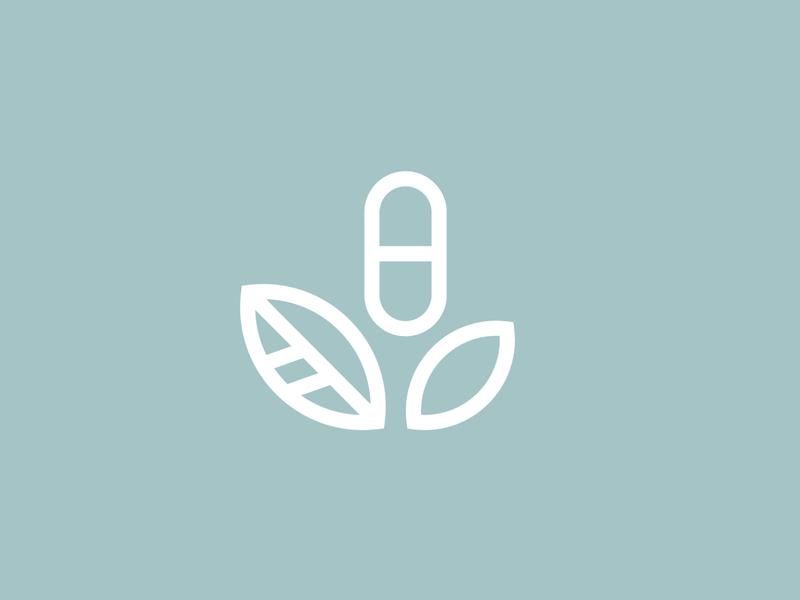 Plant Based Logo leaves logo marks health and wellness plant logo pills plants graphics vector brand logo branding logo design graphic design