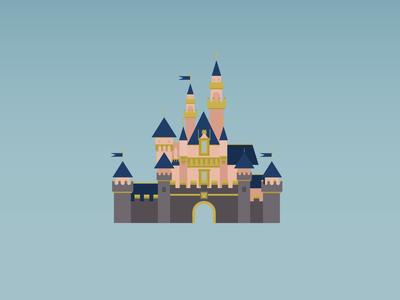 Disneyland: Sleeping Beauties Castle castle disney magic vector illustration vector art sleeping beauty disney castle disney princess disney art disneyland disney