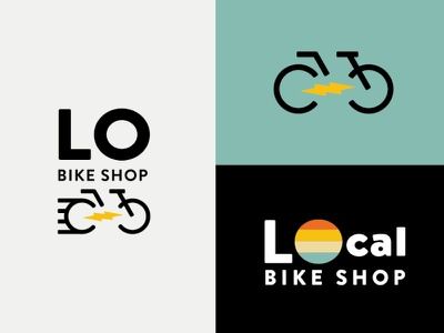 The LOCal Bike Shop california retro logo retro bicycle logo bicycle bike logo bike shop bike logo mark vector graphics illustrator logos brand logo graphic design