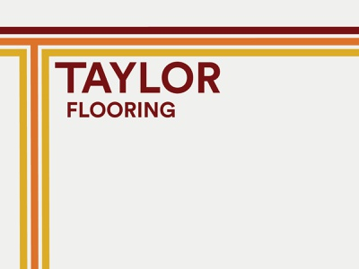 Taylor Flooring branding and identity branding agency wood flooring logo california retro logo retro logo design brand identity construction branding branding construction logo construction company construction
