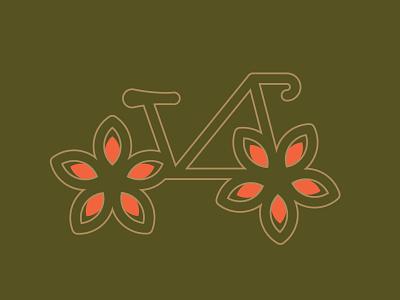 Petal Power daily logo challenge retro vibes retro brand identity branding logo mark eco bike flowers bike shop bicycle bike