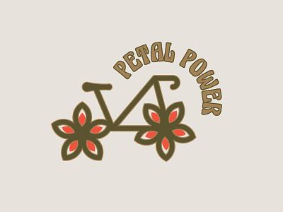 Petal Power vector graphics logos brand logo graphic design retro branding branding bicycle logo bicycle retro logo bike logo daily logo challenge