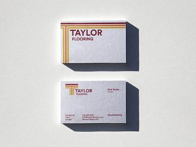 Taylor Flooring Business Card Design branding illustrator logos logo design groovy logo california retro logo retro design business card design business cards retro graphic design