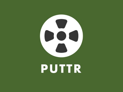 Puttr illustration brand identity golf branding logo design sports hole golf golf logo branding logo