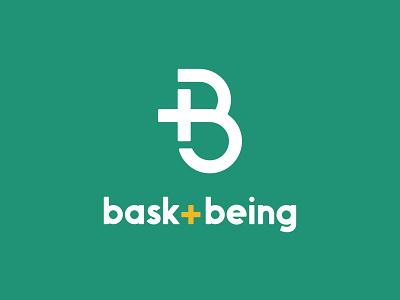 Bask + Being wordmark brand design branding monogram logo mark monogram logo mark logo