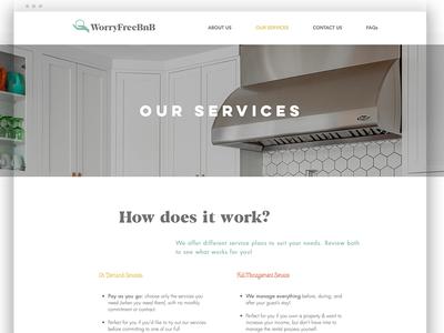 Worry Free BNB Website digital design ui web design website graphic design