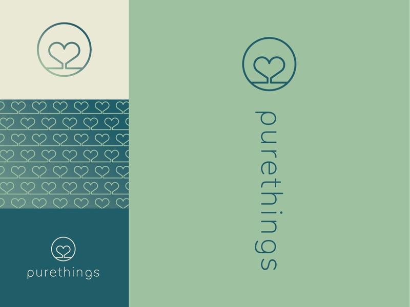 Purethings Logo Deisgn skin care logo heart logo illustrator graphics illustration logo design design logos branding logo brand graphic design