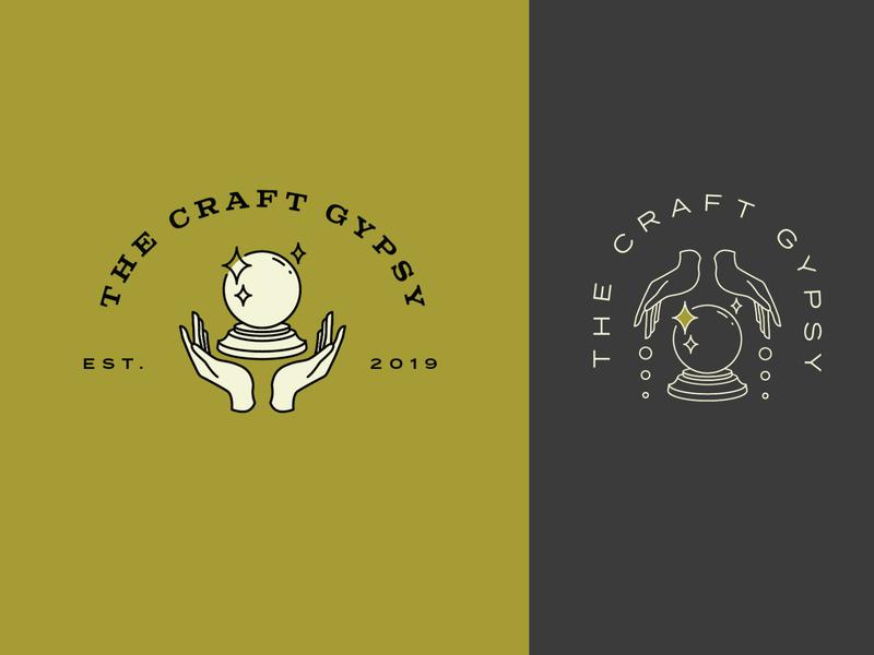The Craft Gypsy Logo Concepts gypsy hippy logo crystal ball illustrator design logo brand logos vector graphics graphic design branding logo design