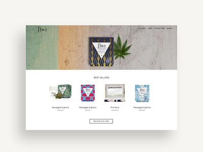 FLWR Cannabis Mobile Site cannabis website cannabis branding cannabis branding digital design mobile site mobile design uiux ui website design web design