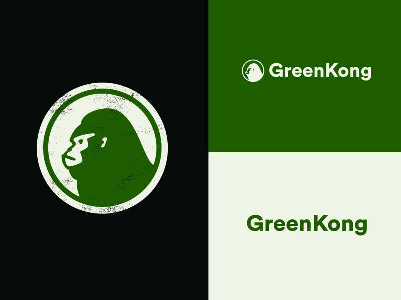 Green Kong Cannabis Logo cannabis branding cannabis logo cannabis gorillaz gorilla gorilla logo monkey logo vector illustrator graphics design logos logo branding brand logo design graphic design