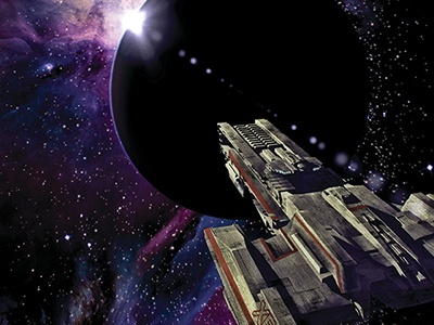XB-1 cover illustration sci-fi spaceship space illustration science fiction