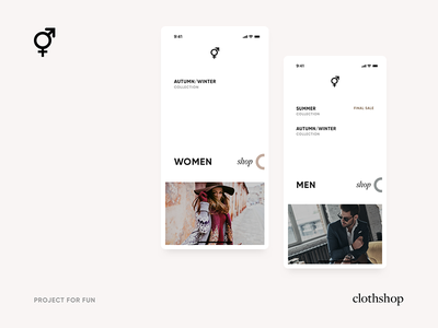 Clothshop App For fun forfun clothshop ux ui music mobile app