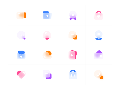 Frosted glass icons ftosted glass 设计 图标 ui 简单