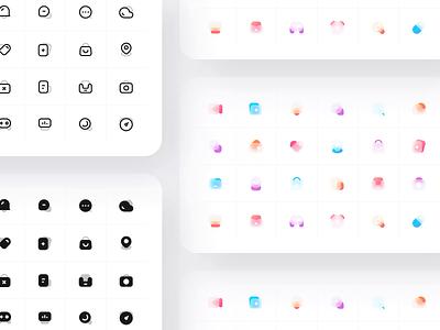 Icon animation black animation 应用 设计 图标 ui 简单