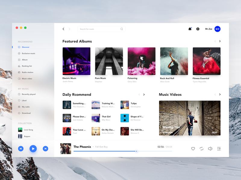 Music player for desktop simple desktop player music