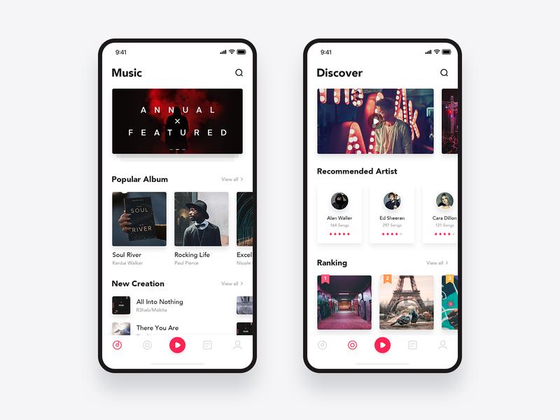 Music App ui 简单 应用 music