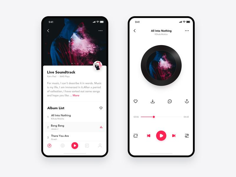 Music App 简单 ui 图标 应用 音乐