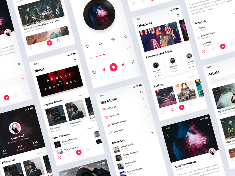 Music App 简单 ui 应用 音乐 图标