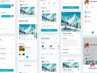 Travel Sharing App 旅行 设计 简单 图标 应用 ui sharing
