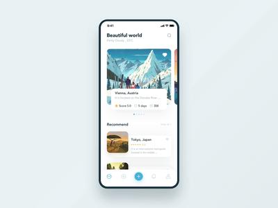 Travel Sharing App 动画 插图 设计 图标 应用 简单 ui